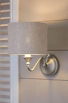 Buy Burford Wall Light from the Next UK online shop Lounge Lighting, Wall Sconce Lighting, Sconces Living Room, Living Rooms, Led Wall Lights, Fabric Shades, Lamp Light, Uk Online, Bedroom Inspiration
