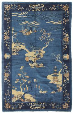 Antique Chinese Rugs Gallery: Antique Peking Rug, Hand-knotted in China; size: 5 feet 0 inch(es) x 7 feet 6 inch(es)