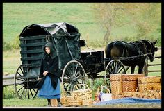 Ohio Amish Country~ Amish girl selling handcrafted baskets.  http://www.dot.state.oh.us/OhioByways/Pages/AmishCountryByway.aspx