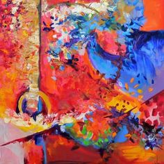 Abstract - Untitled-Sold, painting by artist Kay Wyne
