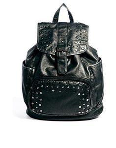 Bild 1 von New Look – Metallic Hex – Nietenverzierter Rucksack