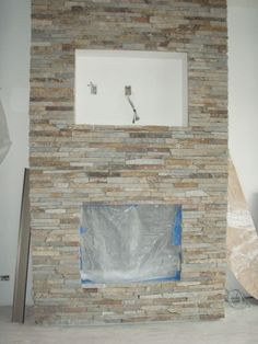 cultured stone fireplaces - Google Search
