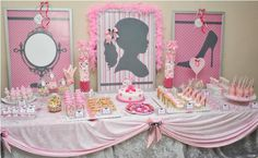 ALL THINGS GIRLY 4th Birthday Party via Kara's Party Ideas - www.KarasPartyIdeas.com The whole party is SO adorable.