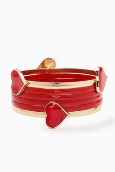 Queen of Hearts Bangle Set