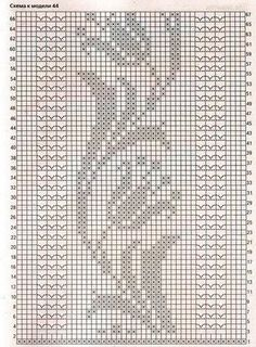 , Tunic made of flax. – Everything is broken … (knitting crochet … - Diy And Craft Filet Crochet Charts, Crochet Diagram, Crochet Motif, Crochet Doilies, Knit Crochet, Crochet Patterns, Free Crochet, Crochet Bedspread Pattern, Crochet Curtains