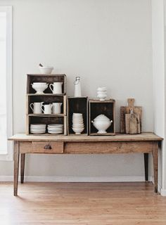 Instant shelving, lovely storage, beautiful display... - The New Victorian Ruralist