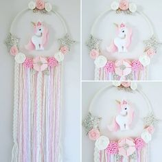Unicorn Dream Catcher In Pinks white and gold I think this one is my favourite hanging unicorn so far #unicorn #unicorndecor #iloveunicorns #unicornlover #girlsdecor #dreamcatcher #dreamcatchers #feltflowers #felt #australianhandmade #etsyau #feltflowers #girlsdecor #girlsroom #babyshowergift #nursery #girlsroomdecor #kidsdecor #fortheloveofaustralianhandmade