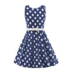 Girl dress Summer Party  Frock White Blue with Gold Floral Print Skirt 3 to 13yr