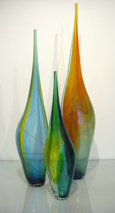 Phil Atrill glass vases-beautiful