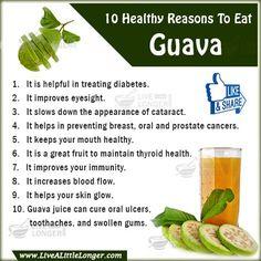 Health Benefits of Guava #nature #health For More: www.livealittlelonger.com