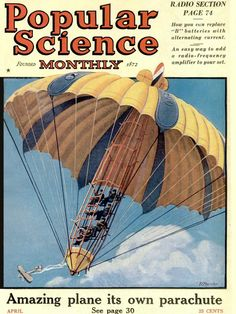 "Artist Unknown - Front Cover of ""Popular Science"" Magazine, early Science Magazine, Magazine Art, Magazine Covers, Popular Mechanics, Poster S, Science Fiction Art, Vintage Magazines, Retro Futurism, Illustrations And Posters"