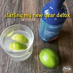The perfect start to a new year detox, a squeeze of lime or lemon mixed with 1tbsp organic apple cider vinegar (with the all important 'mother') Add to a half full glass of cold water and top with hot water to make a warming detox drink. This will give your intestines a good clean and get you on the right track for better health in 2017. Apple cider vinegar has a myriad of health benefits, detoxing is right up there at the top of the list! Stay healthy xx