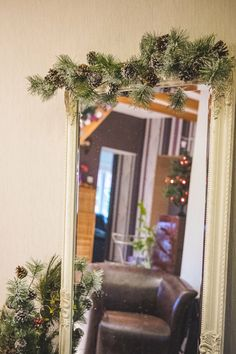 Christmas Time House Decoration Mirror Decoration