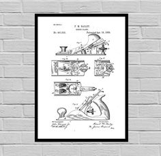 Woodworking Tools Patents, Tools, Carpenter tool Inventions, Woodworking Decor, Mancave, SP389 by STANLEYprintHOUSE  3.00 USD  This poster is printed using high quality archival inks, and will be of museum quality. Any of these posters will make a great affordable gift, or tie any room together.  Please choose between different sizes and colors.  These posters are shipped in mailing tubes via USPS First Clas ..  https://www.etsy.com/ca/listing/499050161/woodworking-tools-patents-to..