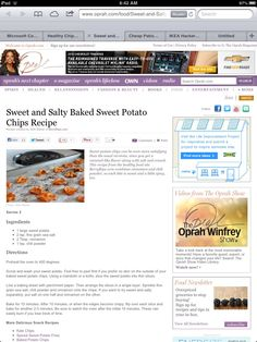 Sweet and salty baked sweet potato chips