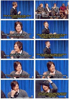 Hardwick and Reedus on Daryl Dixon. Swoon.