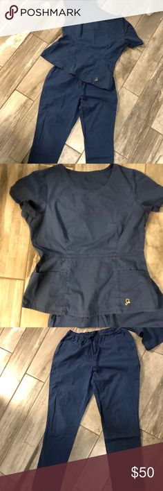 a7dc8e607e5 Jaanuu scrubs Size medium Jaanuu Navy blue scrubs only used for school for less  than a