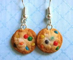 M and M Cookie Earrings by LittleSweetDreams.deviantart.com on @DeviantArt
