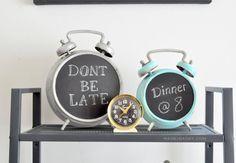 Chalkboard Alarm Clock Makeover W/Faux Vintage Finish Tutorial