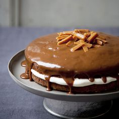 A sticky toffee pudding in a cake! Serve with afternoon tea, or as a dessert