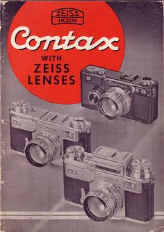 Contax with Zeiss Lenses Brochure CAM 129-9-38 by sunivroc, via Flickr
