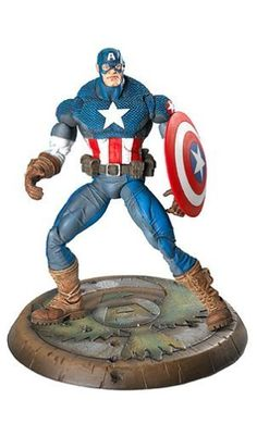 Marvel Legends Series 8 Ultimate Captain America by Toy Biz - Click image twice for more info - See   a larger selection  of captain america at http://zkidstoys.com/product-category/captain-america/ - kids, child, children, toddler,grown up toys,collectibles,gift ideas,holidays,christmas ,action figure,toys