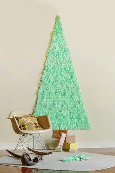 DIY Árbol de navidad con papel seda   Decorar tu casa es facilisimo.com