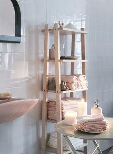 A melhor aliada da arrumação para uma casa de banho com pouco espaço.