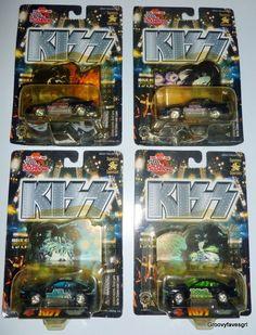 4 KISS Racing Champions Mustang Cartoon Cars Gene Paul Ace Peter Matchbox in Entertainment Memorabilia, Music Memorabilia, Rock & Pop | eBay