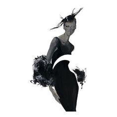 David Downton Fashion Illustration | MONOmoda found on Polyvore