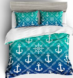 List of Anchor Bedding Sets! Discover the best anchor bedding including comforters, quilts, duvet covers, sheets, crib bedding, and more.