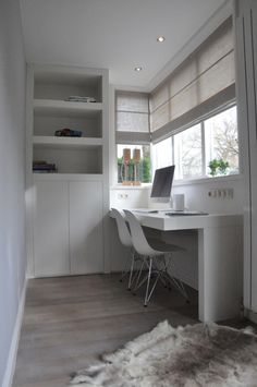Compact bureau - Maek Meubels Home Office Space, Home Office Decor, Home Decor, Small Rooms, Small Spaces, Tiny Apartments, Awesome Bedrooms, Interior Inspiration, Furniture Design