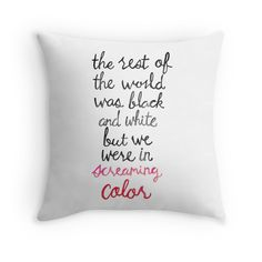 Screaming Color by Tangerine-Tane | Taylor Swift quote | Throw Pillow