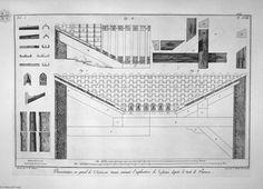 """Plano de átrio toscano da casa Cavedio"" por Giovanni Battista Piranesi (1720-1778, Italy)"