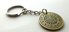 Tunisian, Coin keychain, Mens gifts, Vintage keychain, Arabian jewelry, Mens accessory, Brass keychain, Gift under 20, Middle Eastern, 1960 by CoinStories on Etsy