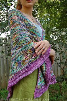 finished shawl by CarinaSpencer, via Flickr