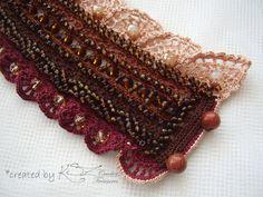 Crochet cuff bracelet Crochet cuff by KSZCrochetTreasures on Etsy
