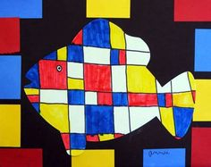 Recreating the work of Piet Mondrian with his use of geometric ...