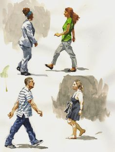 Art In A Busy World: Sketching People In The Park/ Developing A Shorthand