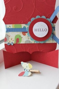 All Occasion Greeting Card with Removable Mini Clothespin