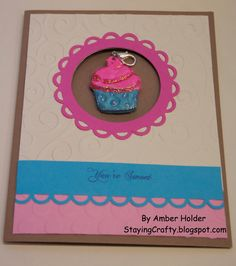 Staying Crafty: Stamped Polymer Clay Charm in a Card