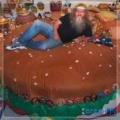 Uma cama de hambúrguer?! @ O museu do hambúrguer