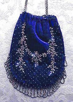 Blue velvet drawstring