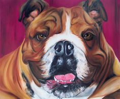 Original 20x24 Oil Painting on Canvas  by LVLuckyDogDesigns