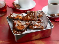 Homemade Candy Bars with Chunks of Cookies and Caramels
