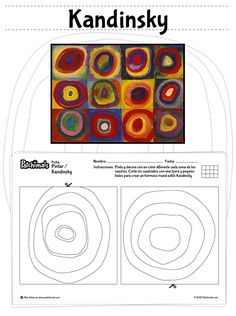 Worksheets 157977899406239401 - Kandinsky Mural: Paint, decorate and cut the pictures to make a beautiful Kandinsky mural. // Mural de Kandinsky: Pinta, decora y corta las figuras para hacer un hermoso mural de Kandinsky. Source by tocayenne Kindergarten Art, Preschool Art, Art Kandinsky, Kandinsky For Kids, Classe D'art, Art Worksheets, Ecole Art, Collaborative Art, Art Lesson Plans