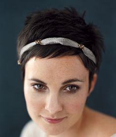 cropped cut - hmm, maybe I could handle a cropped cut if I put in hair accessories.
