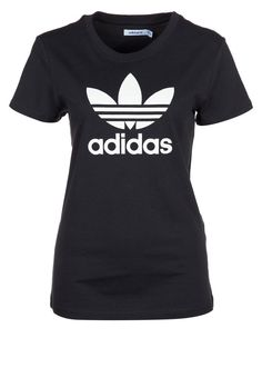 d223fde3bca051 ADI TEE TREFOIL - T-shirts print - black   running white