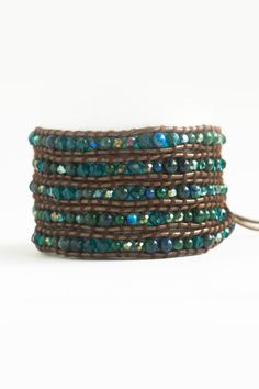 "New! ""Blue Lagoon"" Leather Wrap Bracelet Shop: www.talulahlee.com"