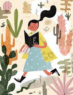Desert Librarian - Aleks Sennwald Illustration